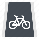 bicycle, bike, lane, road, way icon