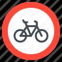 bicycle, bike, sign, transportation, warning icon