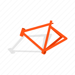 bicycle, bike, frame, isometric, sport, transport, wheel icon