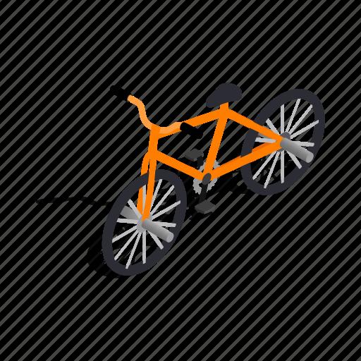 Bicycle, bike, cycle, isometric, race, vehicle, wheel icon - Download on Iconfinder