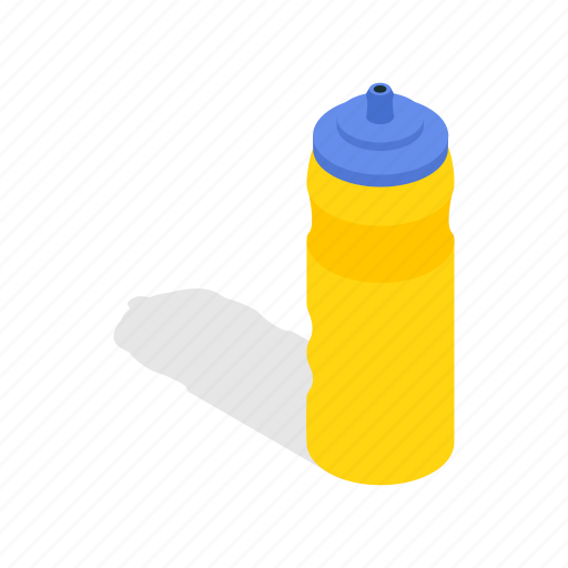 bicycle, bottle, drink, healthy, isometric, sport, water icon