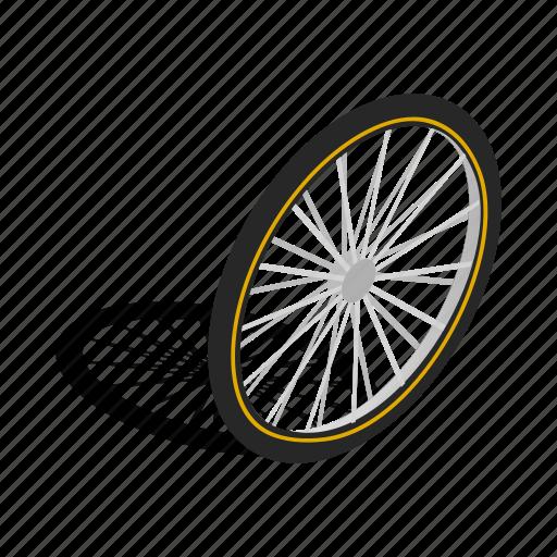 bicycle, bike, cycle, isometric, part, sport, wheel icon