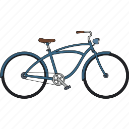 bicycle, fixed gear, retro bicycle icon