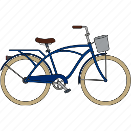bicycle, city bicycle, fixed gear icon