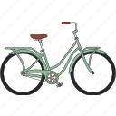 fixed gear, city bicycle, bicycle icon