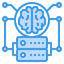 artificial, communication, database, information, intelligence, network, technology icon