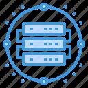data, database, information, network, technology icon