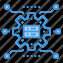 communication, database, information, network, setting, technology icon