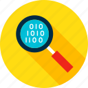 big, data, glass, magnifying, search, seo, zoom icon