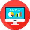 analysis, analytics, big, business, computer, data, monitor icon