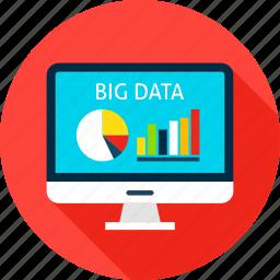 analysis, analytics, big, business, computer, data, monitor icon