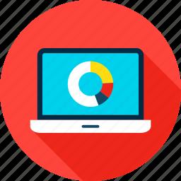 analysis, big, computer, data, laptop, statistic, technology icon