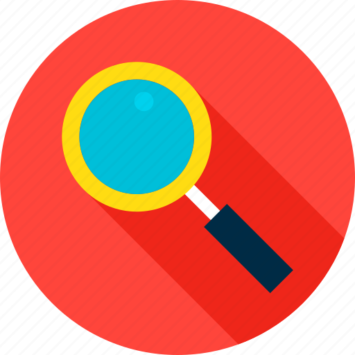 business, data, glass, loop, magnifying, search, seo icon