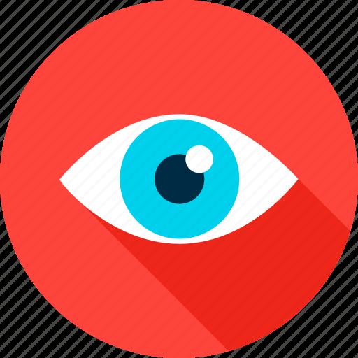 business, eye, eyesight, health, look, search, vision icon