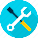 industry, screwdriver, setting, settings, tool, wrench