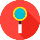 business, data, glass, magnifying, search, seo, zoom icon