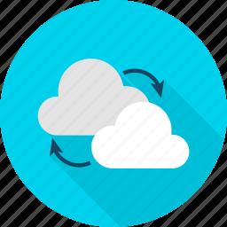 big, cloud, computing, data, download, technology, upload icon