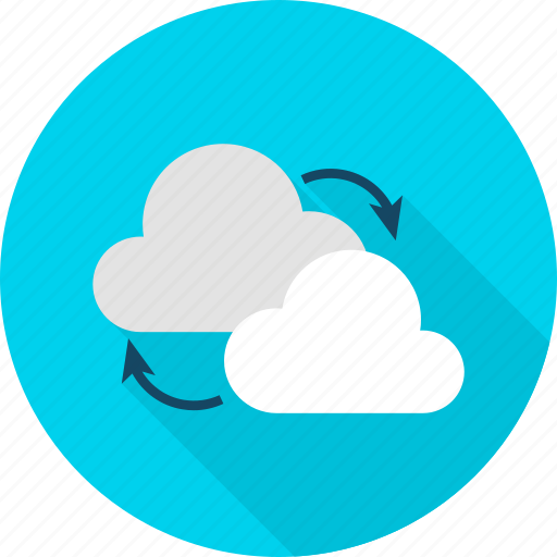 big, cloud, computing, data, download, technology, upload icon