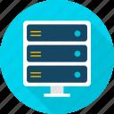 big, computer, data, database, electronics, server, technology icon