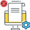 data processing, file processing, processing data icon
