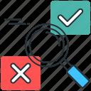 common sense, decision making, logic, making decision, yes or no icon