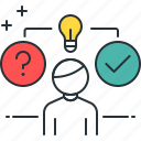 problem, solving, data analytics, data processing, knowledge, problem solving icon