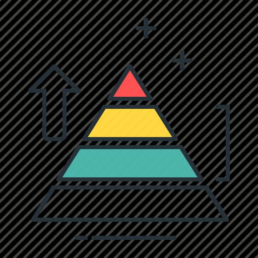 chart, data, data analytics, diagram, graph, pyramid, statistics icon
