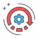 back engineering, data testing, engineering, reverse, reverse engineering icon