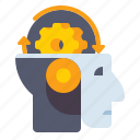 artificial intelligence, learning, machine, robot icon