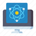 mintor, quantum, computing, science icon