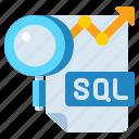 analysis, data, query, sql icon