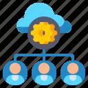 cloud, gear, hosting, reseller icon