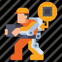 exoskeleton, robot, robotics, wearable icon