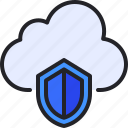 cloud, shield, security, protection, data