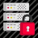 locked, secured, server, database, hosted, protected