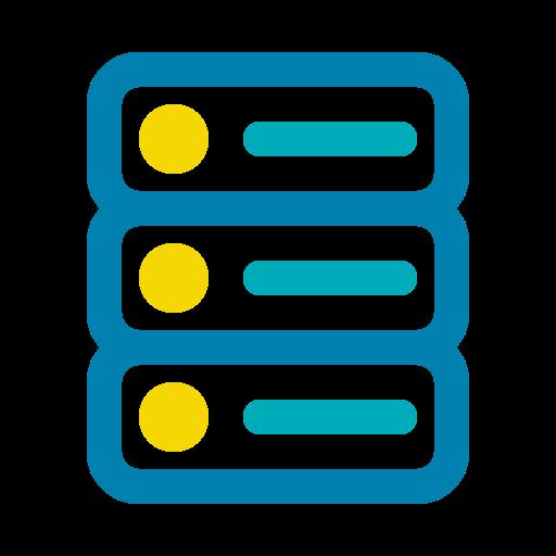 big data, database, network, server, storage icon
