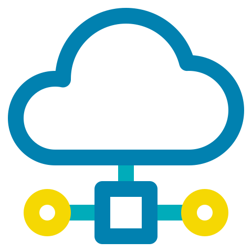 big data, cloud, computing, network, storage icon