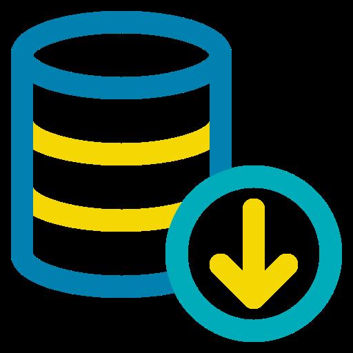 big data, database, download, hosting, storage icon