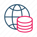 bigdata, global server, global storage, hosting server, main server icon