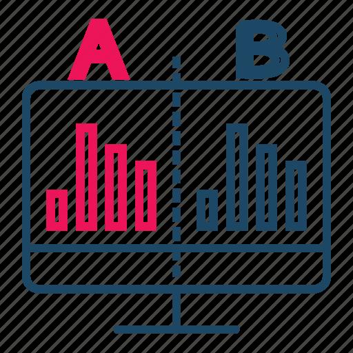 application testing, bigdata, comparison, data analytics, usability icon