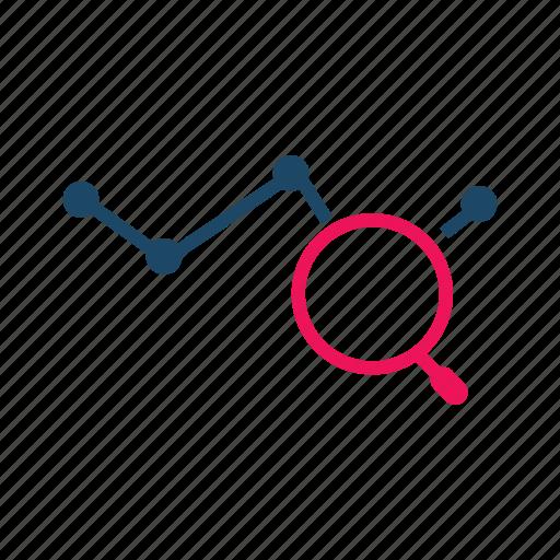 data analytics, data utilization, evaluation, line graph, report icon