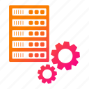 big data, configuration, database, gear, server, storage icon