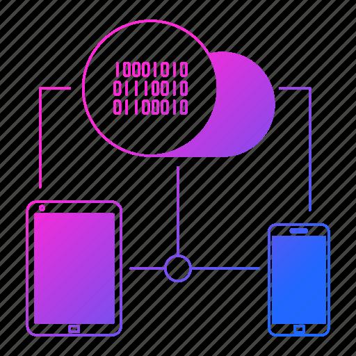 big data, cloud, connectivity, devices, storage icon