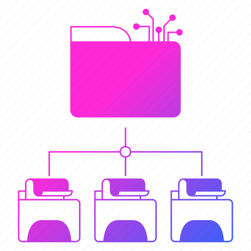 big data, cases, folders, storage, use icon