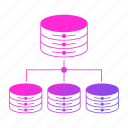 big data, database, distributed, server, storage icon