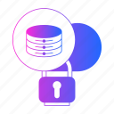 big data, cloud, security, server, storage icon