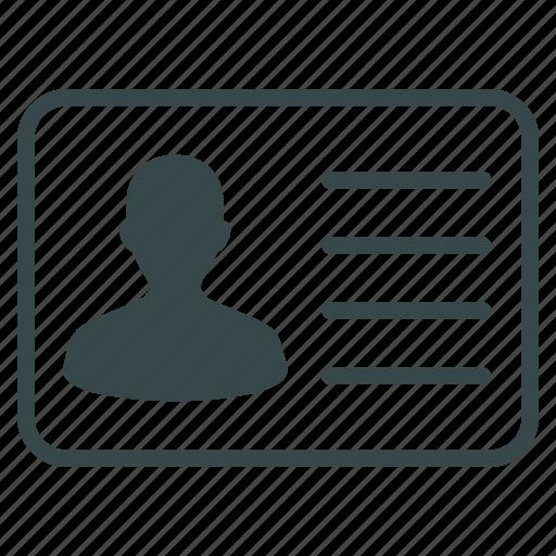 account, avatar, customer info, dossier, person, profile, user card icon