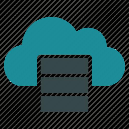 cloud computing, data center, database, datacenter, hosting, server, storage icon