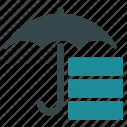data, database, insurance, protection, safe, security, storage icon