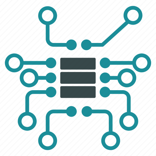 chip, data access, database, electric, hardware, scheme, storage icon